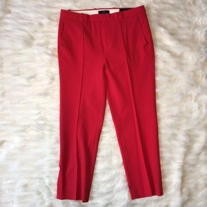 J. Crew Red Tollegno 1900 Trousers